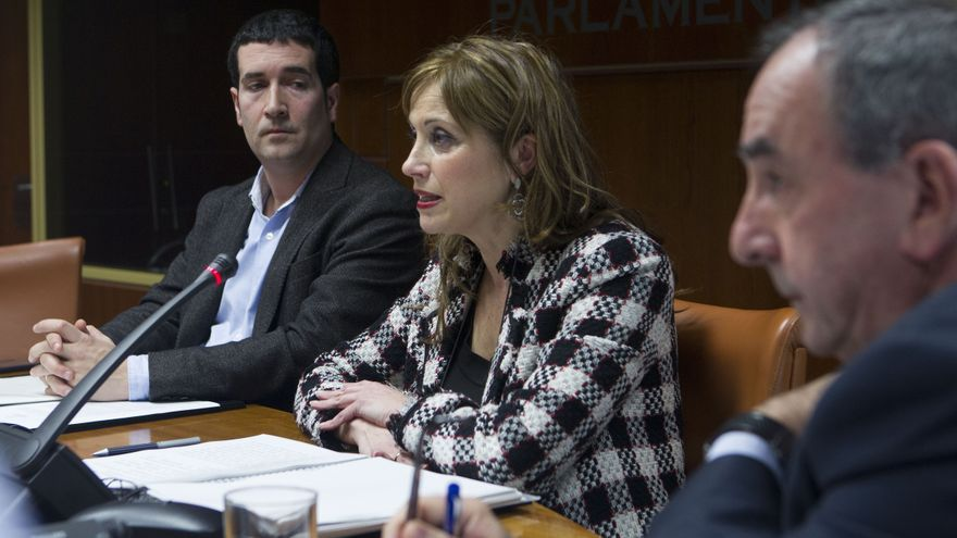 La consejera de Justicia, María Jesús San José, en el Parlamento