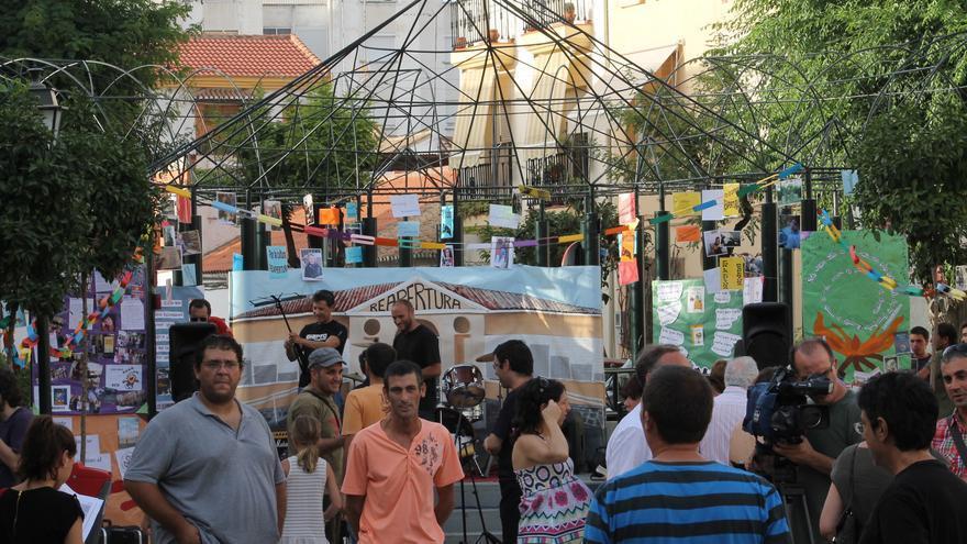 Celebración por la reapertura de la biblioteca Las Palomas