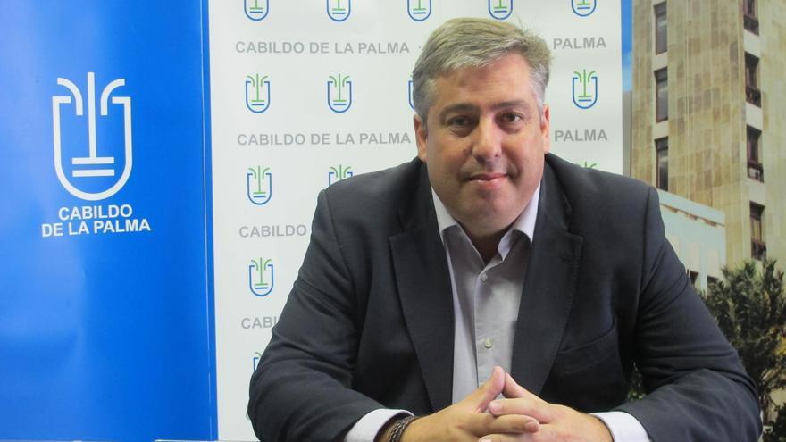 Jorge González, consejero de Infraestructuras y Nuevas Tecnologías del Cabildo de La Palma.
