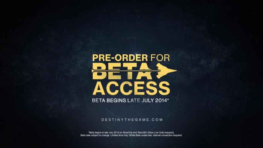 Destiny beta Xbox julio