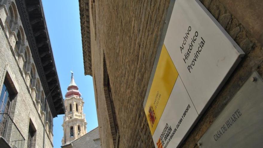 El Archivo Histórico Provincial de Zaragoza se ubica en la calle Dormer.