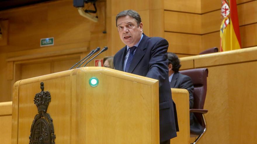 Luis Planas, este lunes en el municipio grancanario de Santa María de Guía