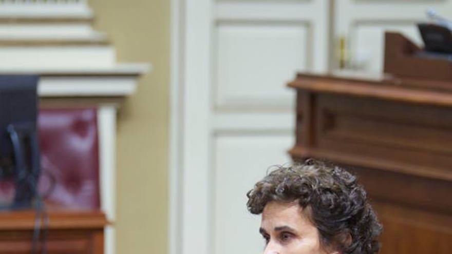 La diputada de Podemos Asunción Delgado