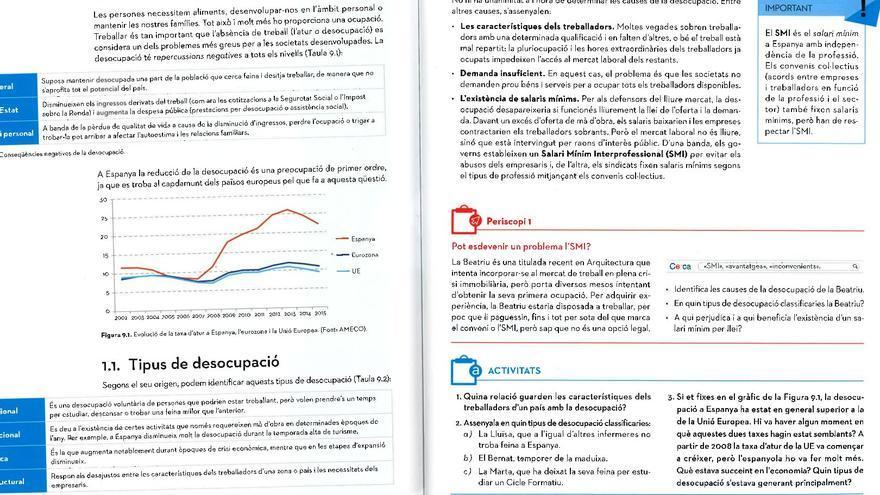 Detalle de las páginas donde se explican las causas del desempleo