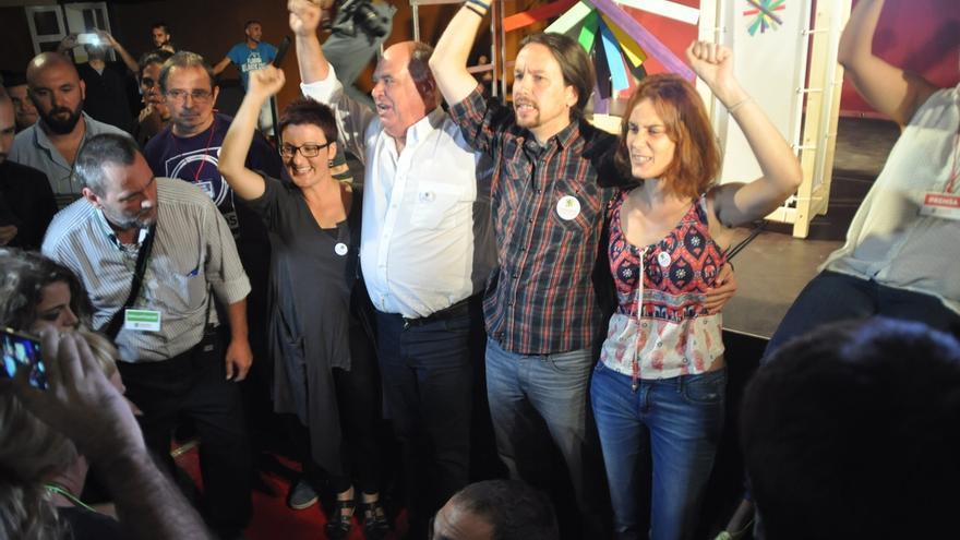 Pablo Iglesias garantiza que Catalunya Si que es Pot votará unida y no apoyará la moción de independencia ni a Artur Mas