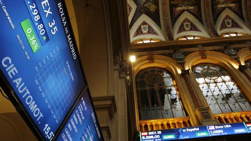 La Bolsa española abre en rojo y el IBEX pierde un 1,10 %