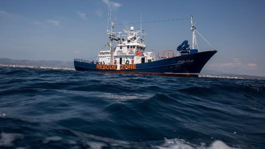 Imagen del Aita Mari en alta mar