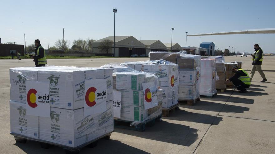 Archivo - Ayuda humanitaria de AECID enviada a Bata, en Guinea Ecuatorial, tras las explosiones
