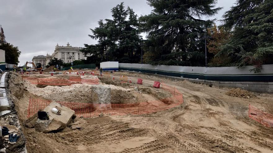 Obras en los alrededores de la Plaza de España de Madrid