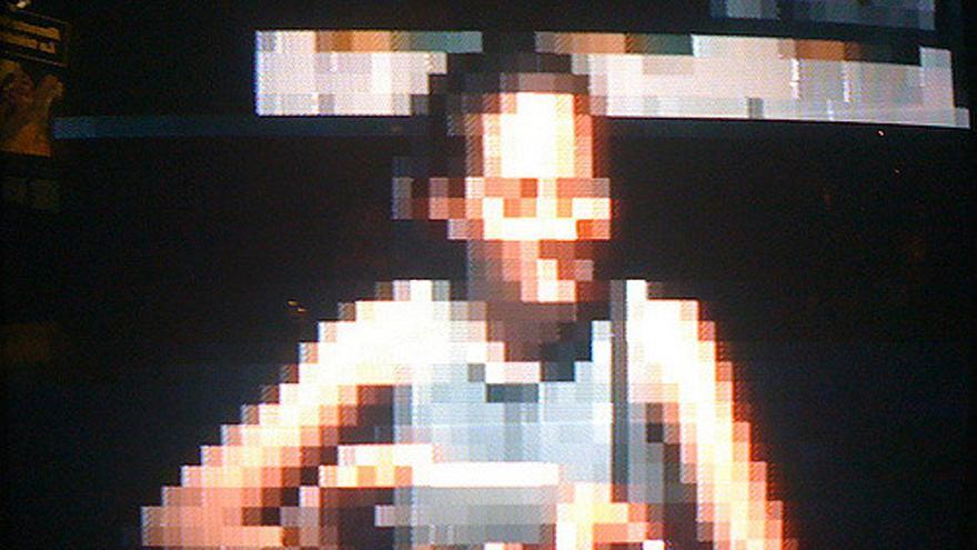 Una persona pixelada