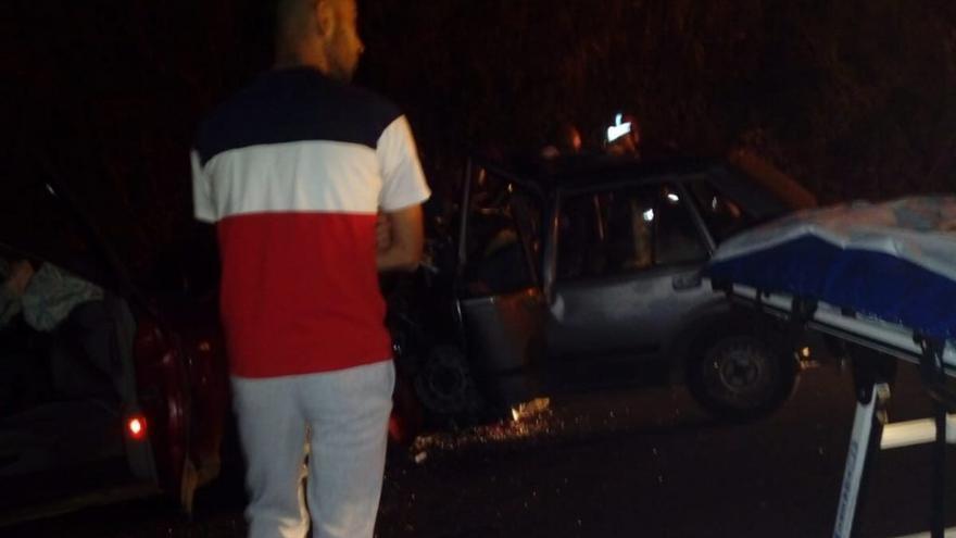 Imagen del accidente de tráfico ocurrido este domingo en Tejina