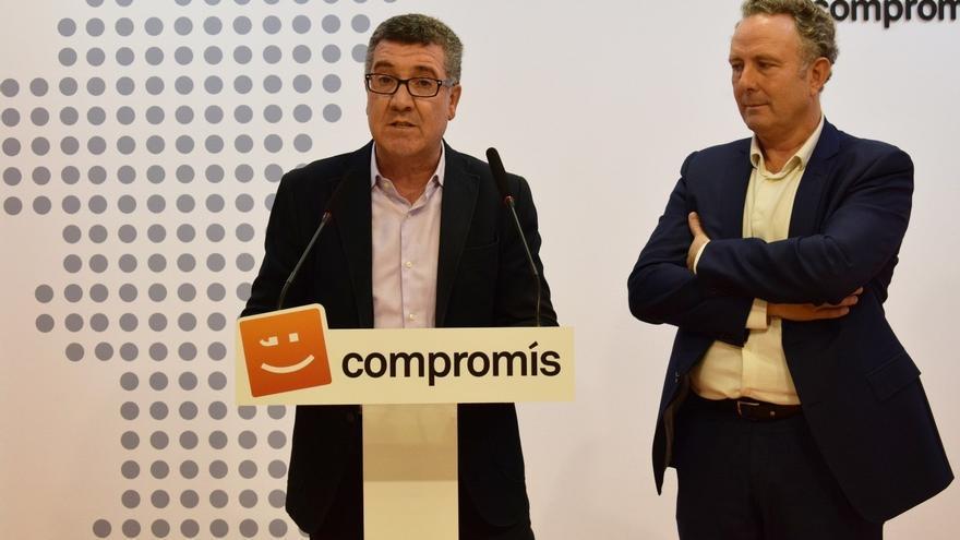 El secretario autonómico de Justicia, Ferran Puchades, y el diputado en el Congreso Enric Bataller