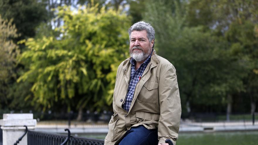 Juan López de Uralde, en el parque del Retiro el pasado jueves.