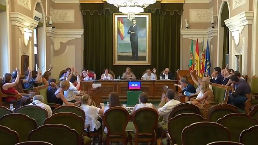Pleno del Ayuntamiento de Castelló.