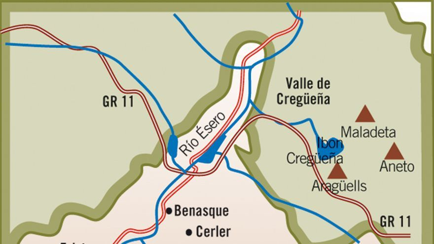 Mapa Maladeta