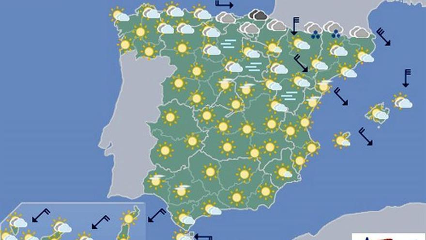 Hoy subirán las temperaturas y estará poco nuboso en general