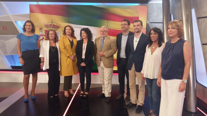 Debate en Canal Sur TV el día después del 1-O