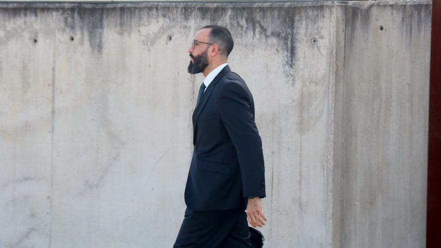 El teniente coronel Daniel Baena, a su llegada a la Audiencia Nacional este lunes.