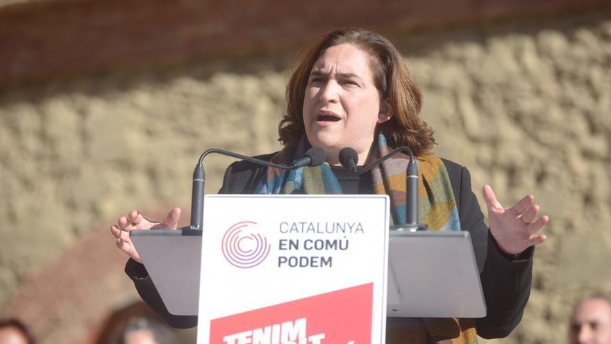 Ada Colau en el acto central de Catalunya En Comú Podem