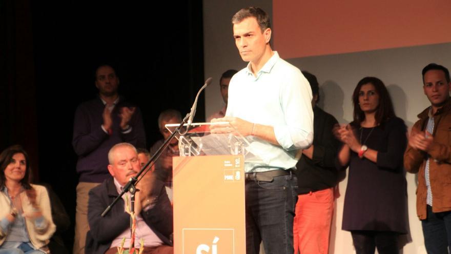 Pedro Sánchez en un momento de su intervención. Foto: JOSÉ AYUT.