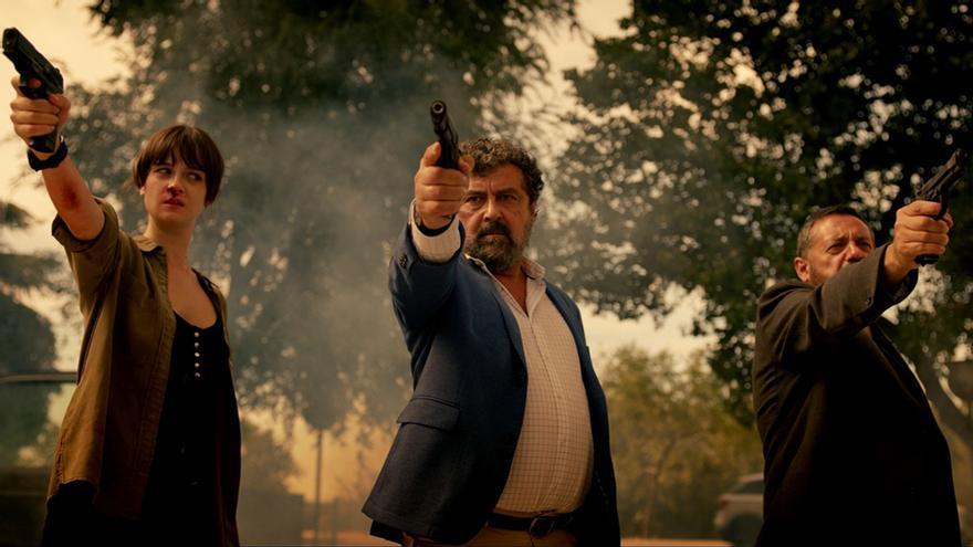 Foto del reparto de 'Los hombres de Paco'