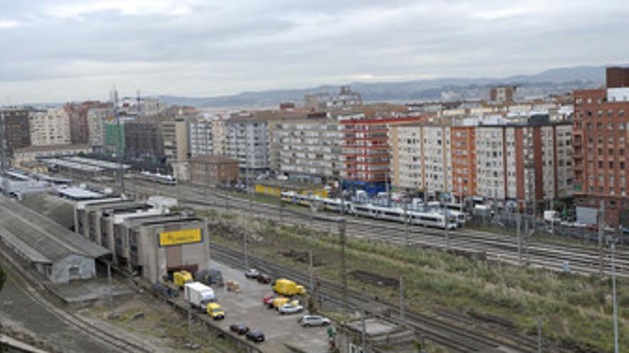 Vías de Feve en Santander