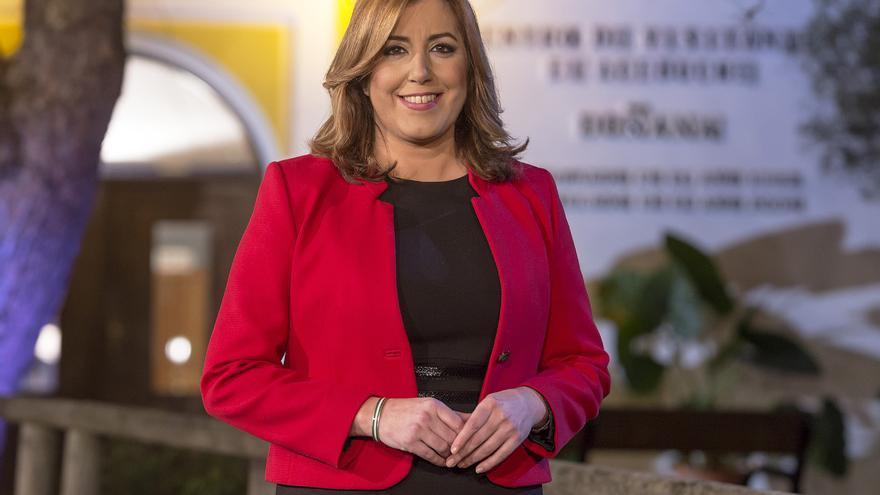 Susana Díaz ha pronunciado el discurso de fin de año desde Doñana /Foto: Junta de Andalucía