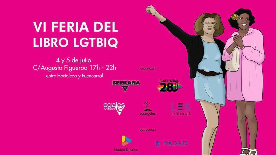 Cartel de la VI Feria del Libro LGTBIQ | BERKANA