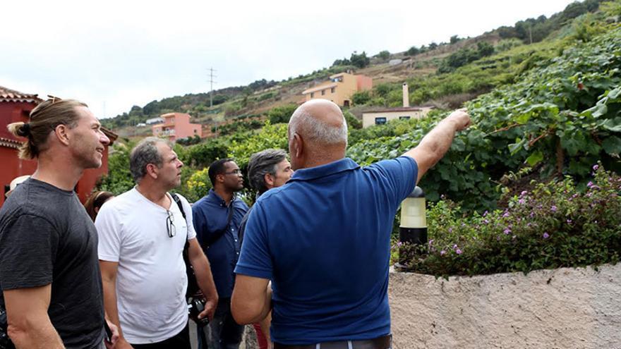 Presentación promovida por la DOP Islas Canarias a los periodistas y sumilleres canadienses Bill Zacharkiw y John Szabo.