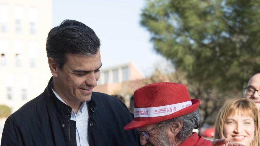 Pedro Sánchez con Antonio Castañeda