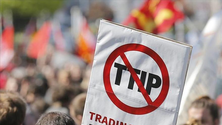 Manifestación en Bruselas contra el TTIP. / Efe