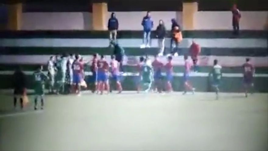 Captura de vídeo de lo acontecido en La Pared el pasado viernes.