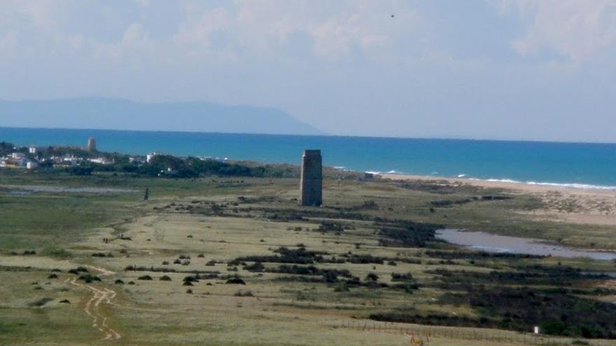 Unión de las playas de Castilnovo (Conil) y El Palmar (Vejer), donde se proyecta la construcción de un hotel.