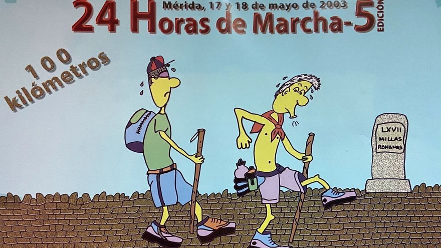 """Cartel de la edición de 2003 cuando aún la prueba se denominaba """"24 Horas de Marcha""""."""