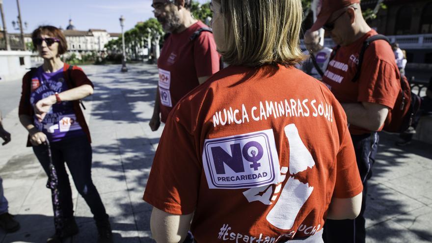 Espartanas Coca-Cola en lucha en las Marchas contra la Precariedad