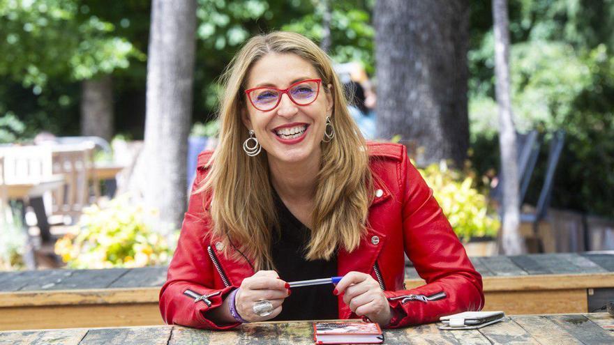La cabeza de lista de Unidas Podemos Cambiar Europa, María Eugenia Rodríguez Palop.