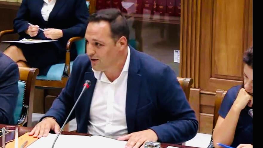 Jonathan Felipe en una intervención parlamentaria.