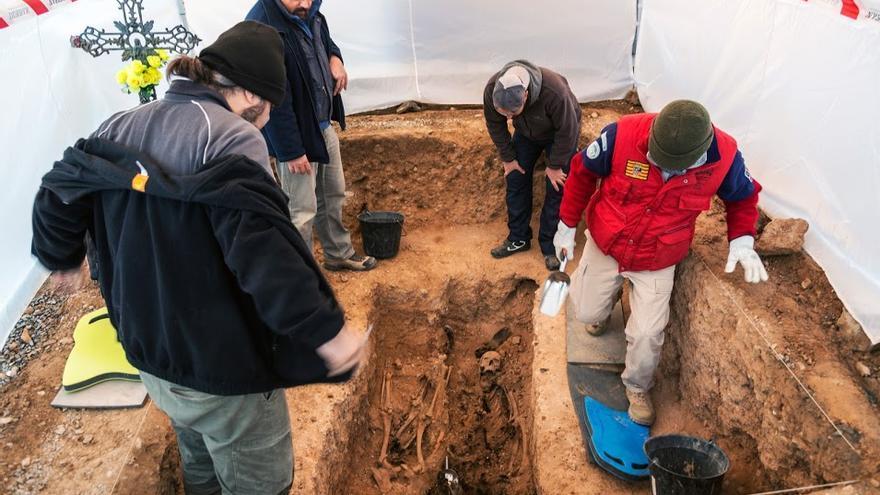 Exhumacion de Arico en Ricla (Zaragoza)