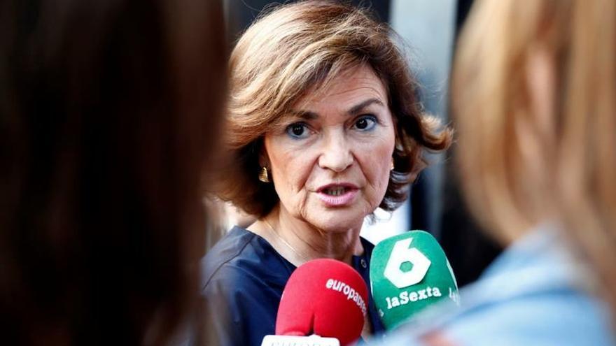 """Calvo se muestra """"muy satisfecha"""" tras la sentencia del Supremo sobre Franco"""