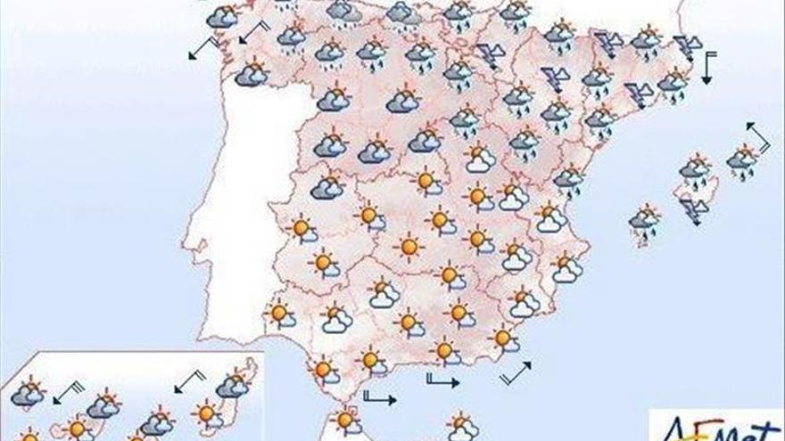 Hoy chubascos fuertes en Aragón, Cataluña y norte de Baleares