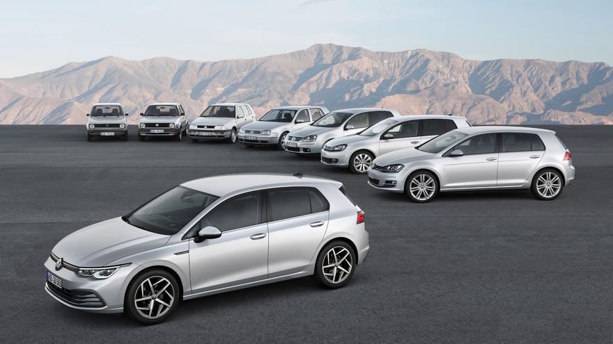 La octava generación del Volkswagen Golf incluye propulsiones de gasolina, gasoil, Mild Hybrid e híbridas enchufables