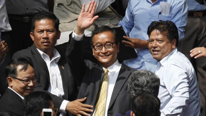 El jefe de la oposición camboyana, en los juzgados por desobediencia civil