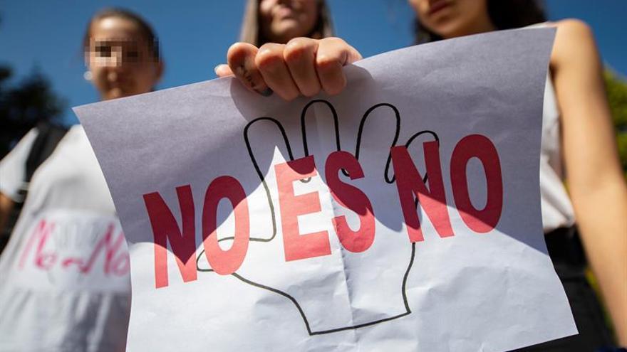 Imagen de archivo de una concentración contra la violencia machista