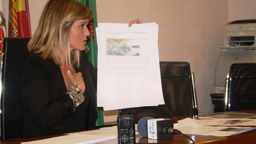 La alcaldesa, Verónica Samperio, ha comparecido en rueda de prensa para explicar la situación del proyecto.