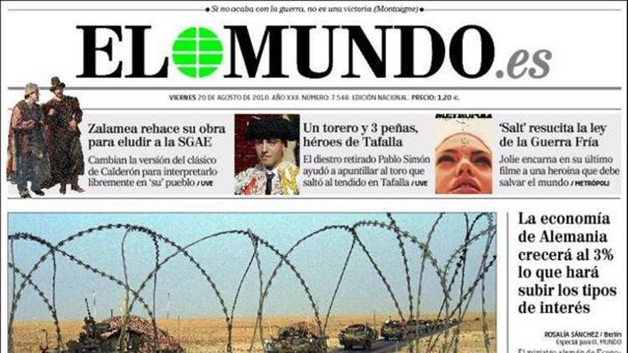 De las portadas del día (20/08/2010) #5