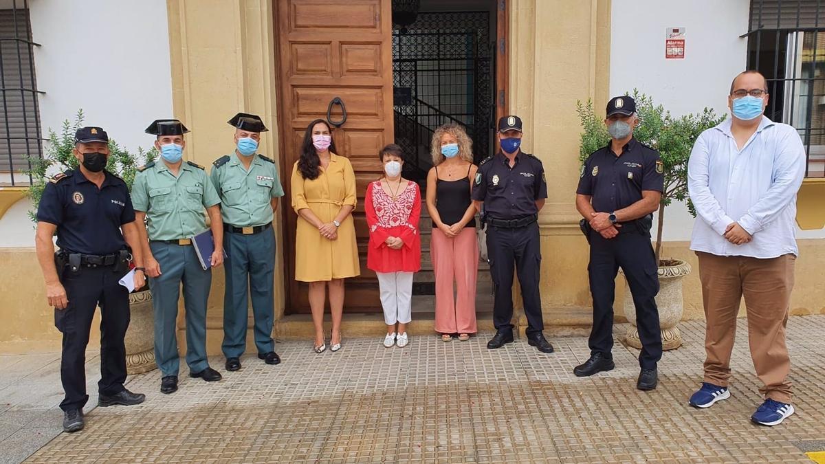 Asistentes a la Junta Local de Seguridad del municipio cordobés de El Carpio.