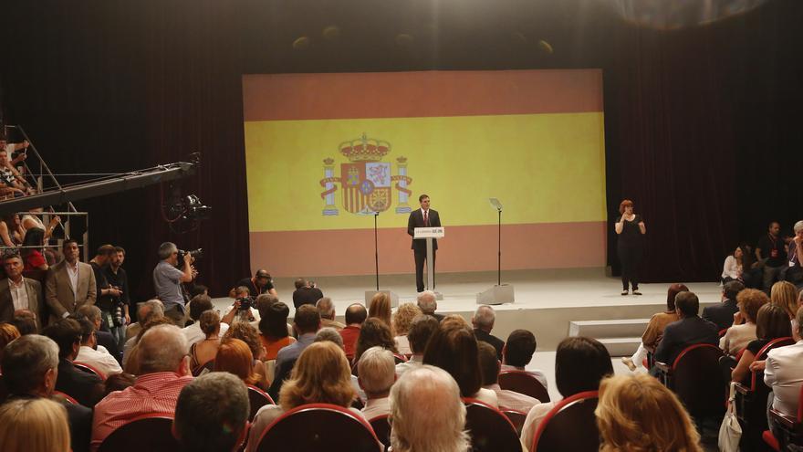 Pedro Sánchez en el acto de su proclamación como candidato del PSOE a la Moncloa
