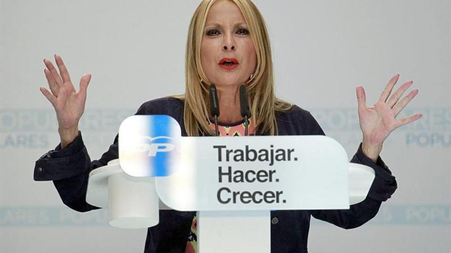 La candidata a la Presidencisa del Gobierno de Canarias por el PP, María Australia Navarro. (EFE/CRISTÓBAL GARCÍA)