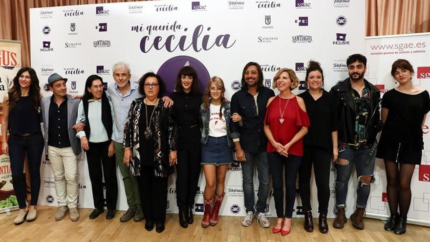 El mundo de la música brinda violetas a Cecilia con un concierto solidario