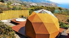 Imagen de un domo geodésico en La Palma.